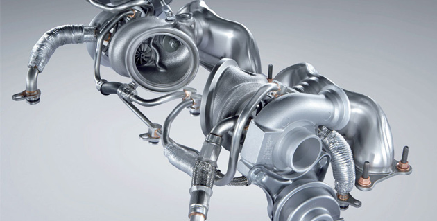 Twin Turbo Santen Technics Turbochargers